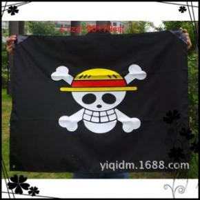 动漫周边旗子批发  海贼王路飞团旗子