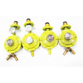 南帝新款煤气液化气 大流量带压力表减压阀 双咀 单咀 煤气阀