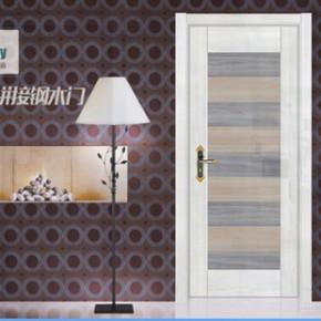 卡兰帝K-6803 新款韩式拼接钢木门 家居室内套装用门 房门