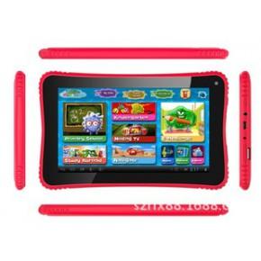 7寸RK3026多功能儿童平板电脑,7寸双核双摄像儿童早教平板学习机