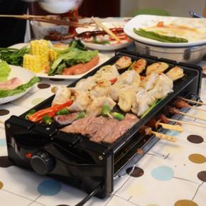 环艺新品无烟电热烧烤炉 韩式烤肉锅 烤串炉家用烧烤机加大电烤炉