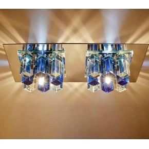 双头水晶过道灯led灯走廊灯玄关灯阳台灯吸顶灯具射灯
