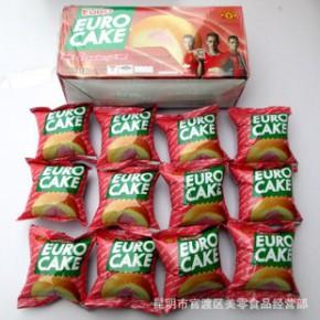EURO蛋黄派204g草莓味泰国原装进口 早餐清真零食品 小吃
