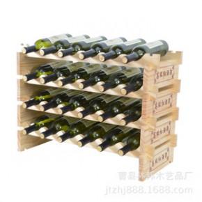 新款实木仿古酒架/木质红酒架木制葡萄酒架/欧式创意展示架