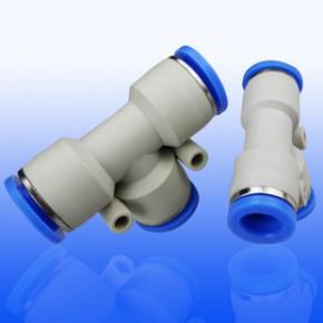金熠厂家批发PE8气动快速接头 气管直插T型三通塑料接头