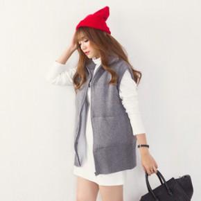 布着屋2014秋冬立领棉衣外套韩版女棉袄保暖加厚马甲女