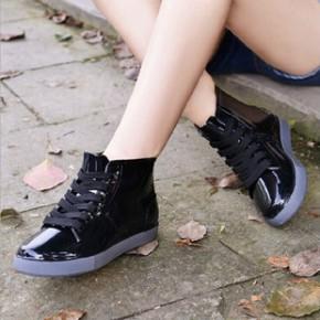 大码低筒帮胶鞋雨鞋情侣女士男款雨靴时尚休闲马丁鞋系带板鞋水鞋