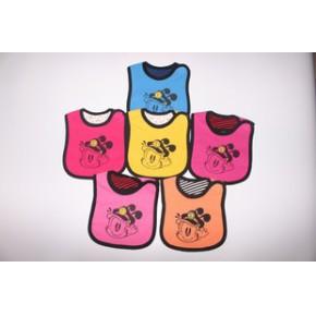 针织防水口水兜 纯棉卡通儿童口水巾宝宝围嘴围兜婴儿用品