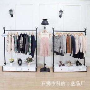 服装展示架 服装店挂衣货架 衣服展示架 落地服装货架陈列架