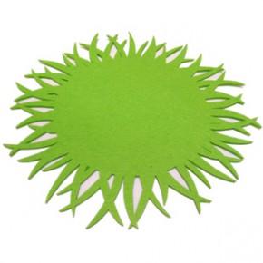 创意杯垫 毛毡定制隔热垫自然花草小资咖啡杯垫餐垫外贸出口