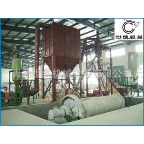 硅微粉球磨分级生产线工艺流程