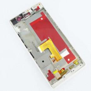 原装屏幕玻璃批发 华为Ascend P7液晶总成加框 P7内外屏LCD加框