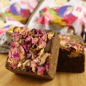 台湾进口食品 史瑞克黑糖玫瑰四物 40g养生冲调茶砖
