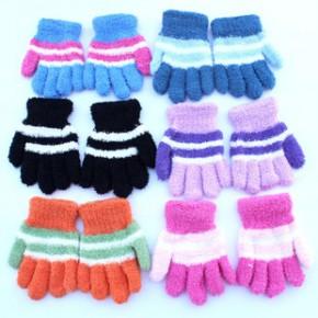 冬季保暖儿童手套 韩版可爱卡通全指 半指 五指手套