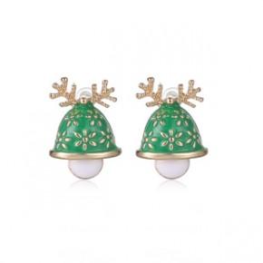 圣诞节礼品 圣诞吉祥鹿角耳钉 耳饰批发 时尚外贸耳钉 耳饰