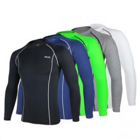 艾速欧现货紧身速干运动内衣户外跑步骑行健身足篮球打底保暖长袖