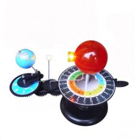 科普三球仪LED灯光日地月地球仪运行仪地理教学仪器 圣诞礼物包邮