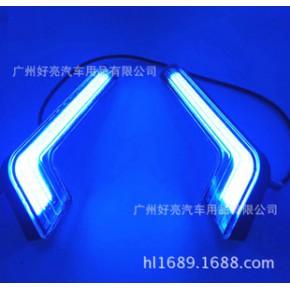 新款L型COB日行灯 汽车改装LED日间行车灯 大功率带透镜防水 七形