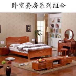 包邮南康卧室成套实木家具套房系列