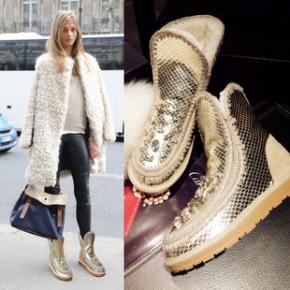 欧洲站14冬季新款真皮女式雪地靴平底平跟短筒女靴短靴羊毛棉靴
