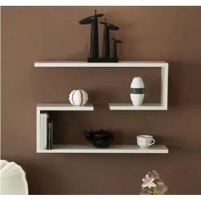 J型搁板隔板 创意隔板置物架装饰架壁挂架书架 电视背景墙可定制