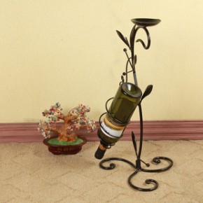 卡豪包邮铁艺壁挂酒架 红酒架 葡萄酒架 酒杯架 居家装饰烛台