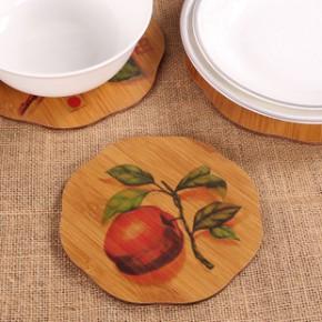 竹制餐垫 防烫隔热垫 烤花餐桌垫 特价碗垫 创意砂锅垫 定制LOGO