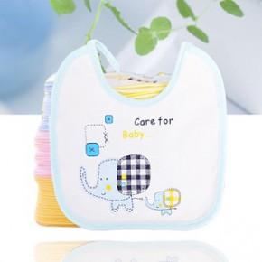 婴儿专用防水围嘴 大象防水小围嘴 宝宝口水巾代工 可加印LOGO