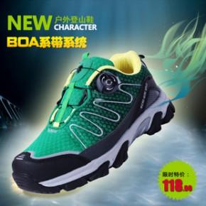 新款防滑徒步户外运动鞋 男女震透气休闲鞋 旋转钮扣耐磨登山鞋M
