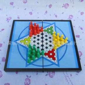 磁石跳棋 经典益智棋类 磁性折叠便携式 桌面游戏 娱乐休闲棋