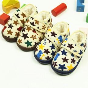 宝宝外贸学步鞋 婴儿童手工布鞋居家棉鞋保暖棉鞋 代销 一件代发