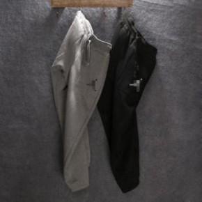 外贸原单 14新款男装秋冬款男式加厚羊羔绒卫裤休闲裤收脚运动裤