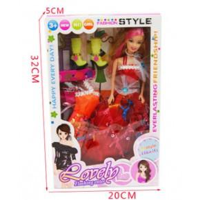 爆款2套換裝娃娃 好的女孩生日禮物套裝禮盒芭比娃娃