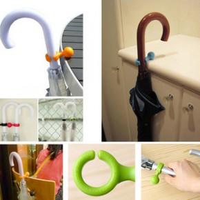 糖果色伞粒 创意小玩意挂件方便存放雨伞挂钩 悬挂伞架子 14g