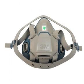 3M 6502硅胶防毒面具防尘面具防护喷漆专用面罩防毒面具