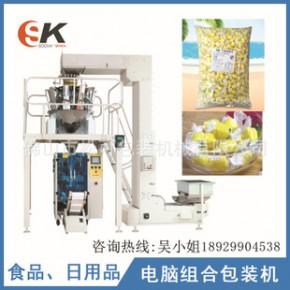榴莲软质糖 糖果包装设备 膨化食品机械加工零食全自动立式包装机