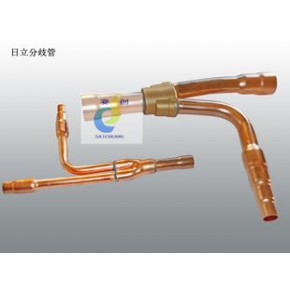 日立空调配件 安装维修用分歧管E-302SN 双黄铜三通 60公斤测漏
