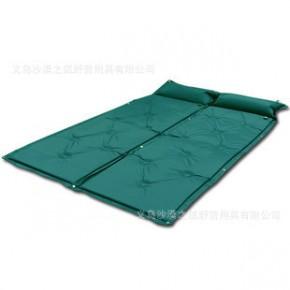 充气垫 带枕自动充气垫 可拼接九孔自动充气垫 户外气垫床