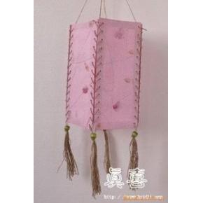 布艺泰国工艺品手工精品灯饰家装挂饰 干花灯罩