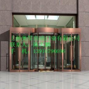 不锈钢旋转门、自动门、玻璃自动感应门、玻璃门、玻璃刷卡门
