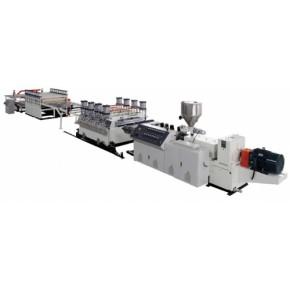 上海金纬机械PVC木塑建筑模板生产线