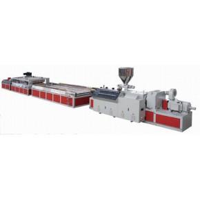 上海金纬机械PVC木塑门板生产线