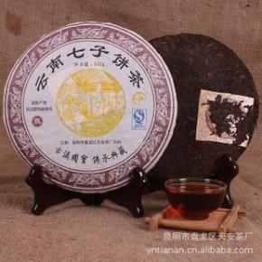普洱茶 熟茶 饼茶 天安06年普洱熟饼