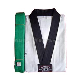 优质纯棉ATAK白色耐脏跆拳道训练服 跆拳道服装