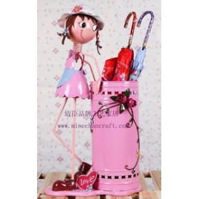 韩式田园风格多用途家居装饰铁皮娃娃雨伞桶