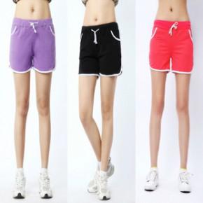 时尚嘻哈拉边运动短裤 沙滩裤 搭配韩版T恤佳服饰