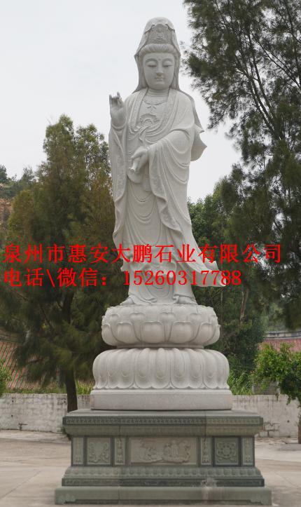 直销石雕观音佛像雕刻,寺庙古建石雕工艺品
