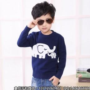 新款女童毛衣韩版立领针织衫条纹套头中小童2-7岁