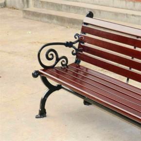 户外公园椅子长椅室外椅铸铁防腐实木靠背椅