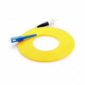 陶瓷插芯SC-FC单模单芯光纤跳线 圆头转方头